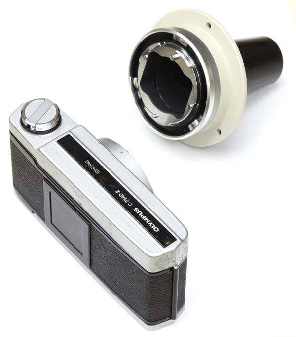 Olympus Vanox-T AH2 microscope film camera fitting with C-35AD-2 35mm film camera body