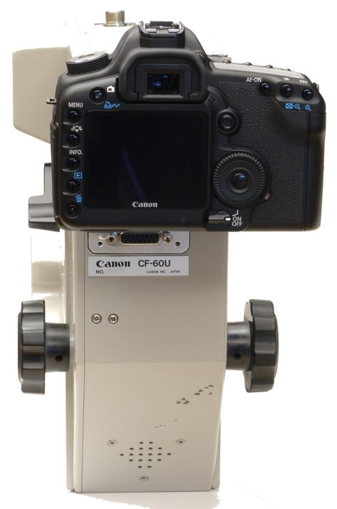 Canon CF-60U retinal camera upper unit with digital camera upgrade installed