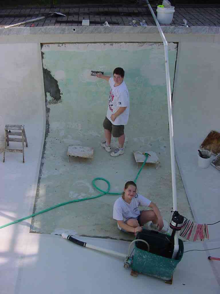 Pool Plaster Mix : Swimming pool plastering do it yourself project