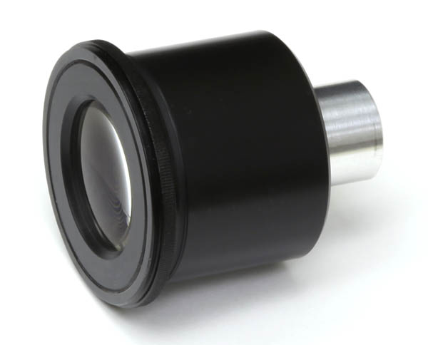 Photo eyepiece V3 top view, 52mm body size configured for 58mm filter thread with step-down ring