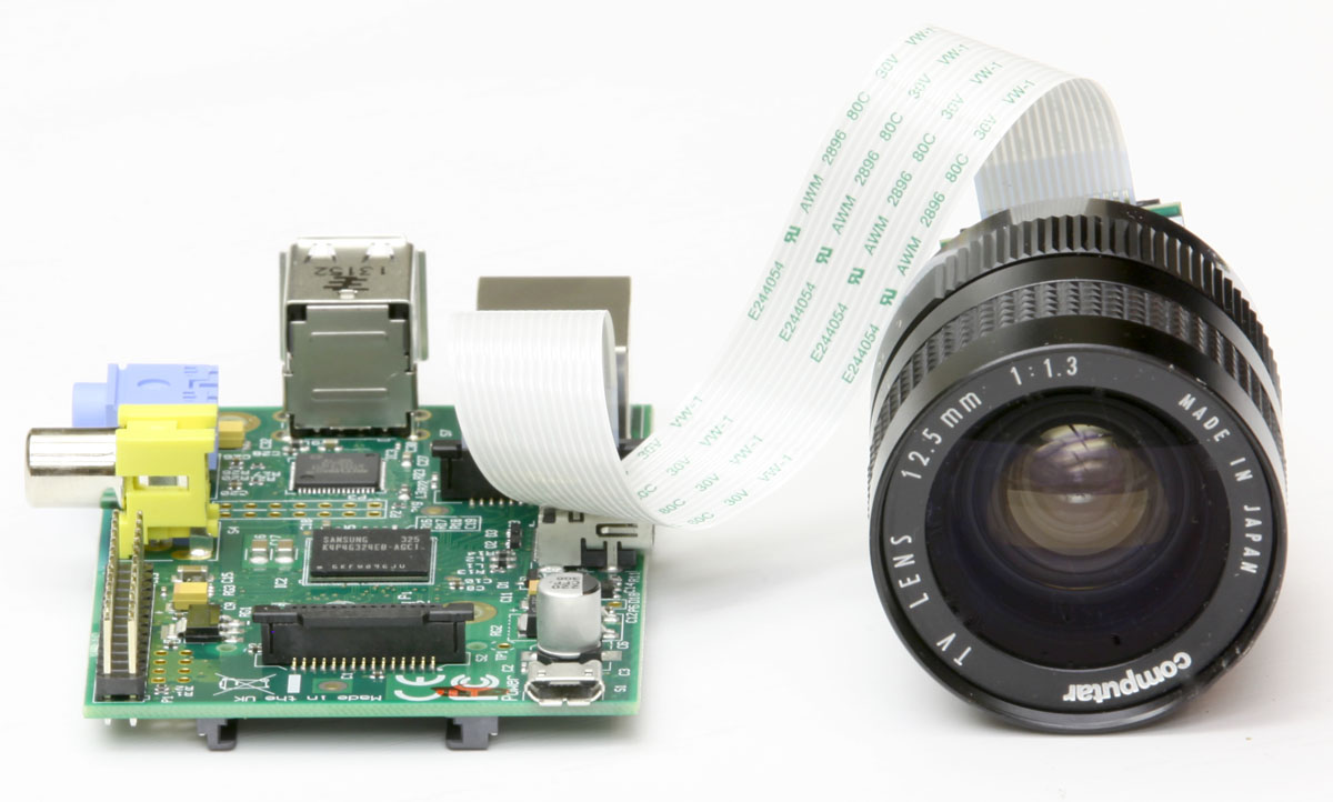 Raspberry Pi Camera Module Lens And Circuit Board Digital Photography Concept Another C Mount On Computar 125mm F 13
