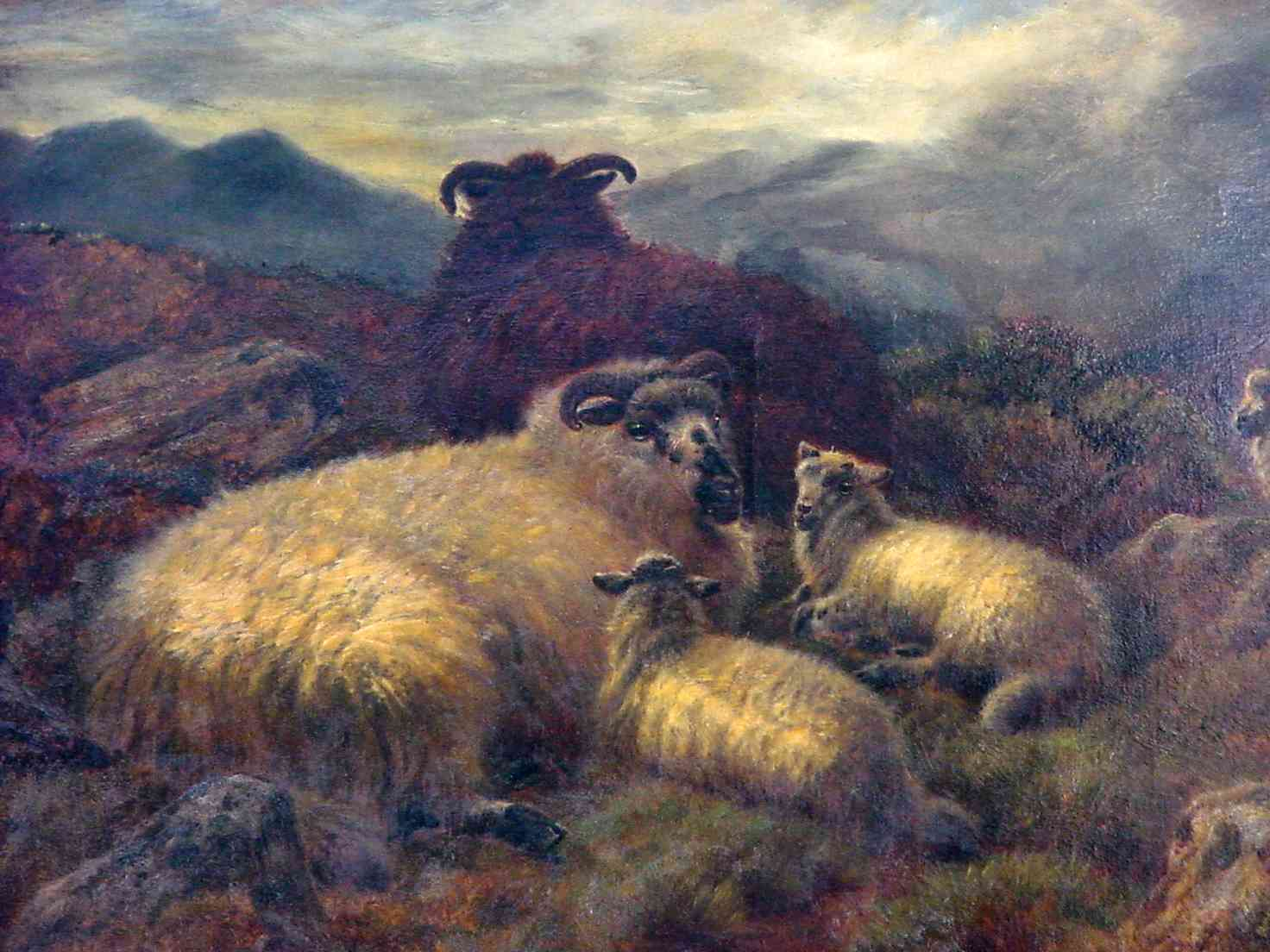 Richard Watson, English landscape painter, 1840-1921, sheep painting