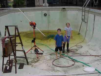 Swimming Pool Before Replastering